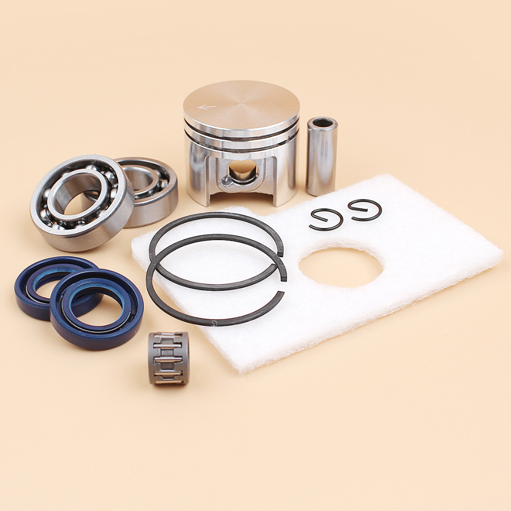 Купить с кэшбэком Motor Piston Crankshaft Oil Seal Bearing Air Filter Kit For Stihl MS180 MS 180 018 Chainsaw Spare Parts 38mm