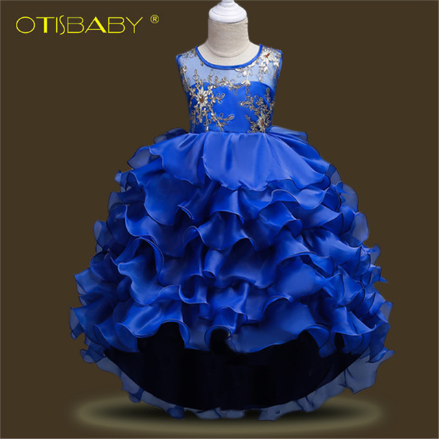 Floral Wedding Birthday Party Fancy Dresses for Girls 10 11 12 13 Years  Teenage Girls Communion Clothing Ceremony Ball Gowns e71756ec5ef4