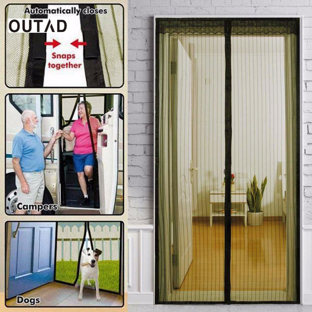 Magnet french doors promotion shop for promotional magnet french outad 2017 popular screen door curtain mesh on the door mosquito net on magnets hand free magnetic anti bug vtopaller Image collections