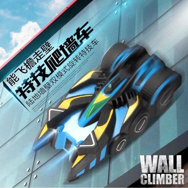 4 canal Mur Racer Télécommande Mur D'escalade RC Voiture avec LED Lumières Stunt Climber Racing Jouet De Voiture Pour Garçon cadeau d'anniversaire