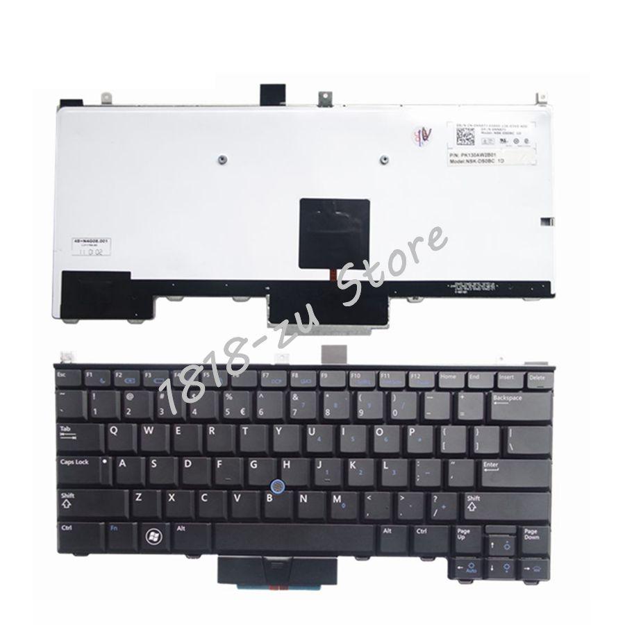 """YALUZU חדש אנגלית תאורה אחורית מקלדת עבור DELL Latitude E4310 שחור מקלדת מחשב נייד בארה""""ב להחליף מקלדות"""