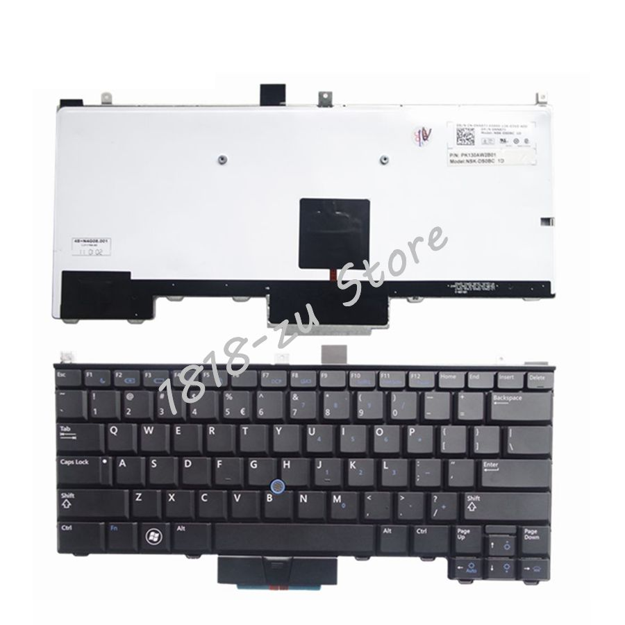 YALUZU New English backlight keyboard For DELL Latitude E4310 BLACK laptop keyboard US replace keyboards