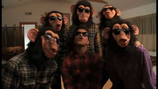 Free Shipping THE LAZY SONG OF BRUNO MARS MONKEY Latex