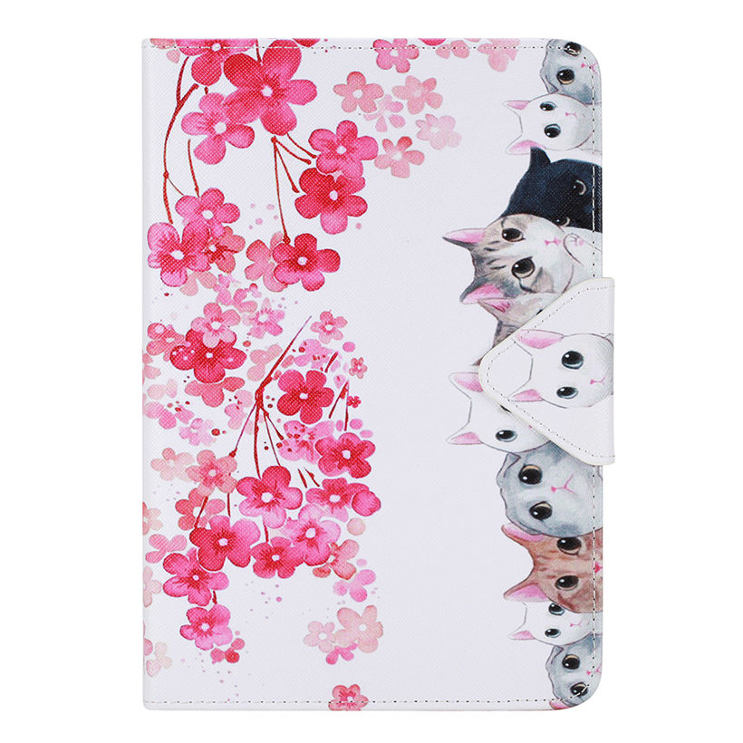 Cat PU Leather Case For Apple iPad air 2 For iPad mini 4 For iPad 2 3 4 5 6 iPad Pro 9.7 '' Cover Cases Stand Flip Funda Shell owl flip pu leather case for apple ipad air 2 ipad mini 4 ipad 2 3 4 5 6 case tablet smart stand cover with card holder