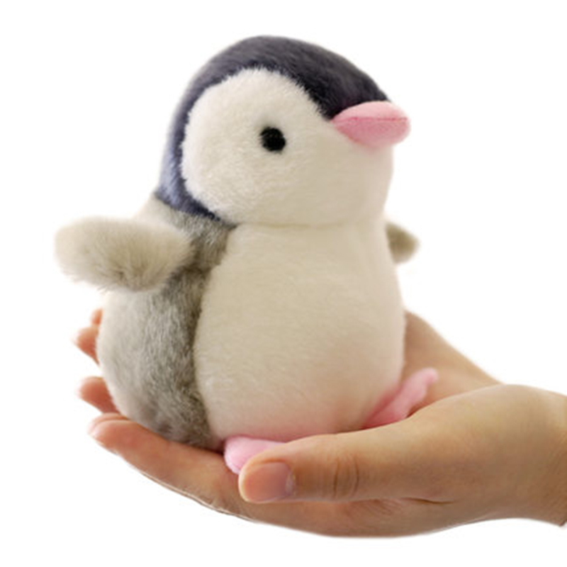 13cm Baby Dolls Stuffed Toys Cute Cartoon Sound Penguin Small Soft Toy Mini Plush Animals Brinquedo Birthday Gift On Car/bed