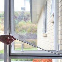 Tela magnética diy ajustável  para janelas até 25-71 Polegada removível e lavável  rede invisível para tela de mosquitos