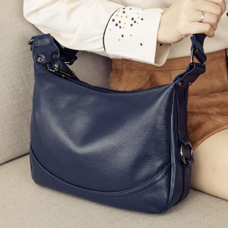 Prawdziwej skóry torba kobieca panie Crossbody torba na ramię luksusowe torebki moda torba damska duża torba materiałowa sac głównym w Torebki na ramię od Bagaże i torby na  Grupa 1