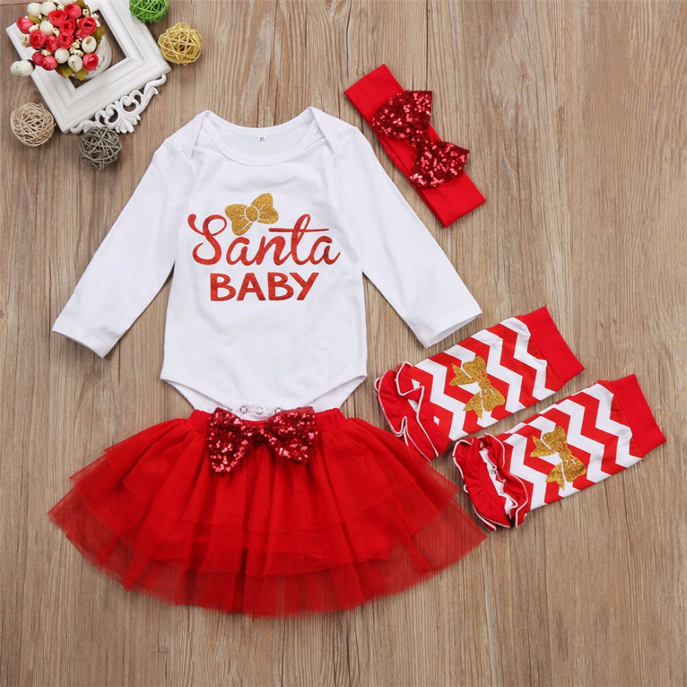 New girls Christmas New Year dress TUTU skirt Baby Set girls clothes ...