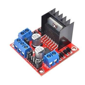 Бесплатная Доставка 1 ШТ. Новый Двойной H Мост ПОСТОЯННОГО ТОКА Шагового Двигателя Привода Совета Модуль Контроллера L298N для Arduino