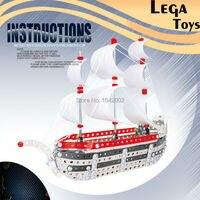 3D Metall Puzzle Montage Konzept Metall Segelboot Spielzeug für Kinder Beste Geschenk, Top Schiff Modelle Baustein Kit Spielzeug