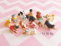 mini japan Vinyl figure toyModel dogs 12pcs/set Fischer Kechai Chiba Shirley Bregie Rafael Teddy Dibi Geke Chaiqi Dolls Bamei