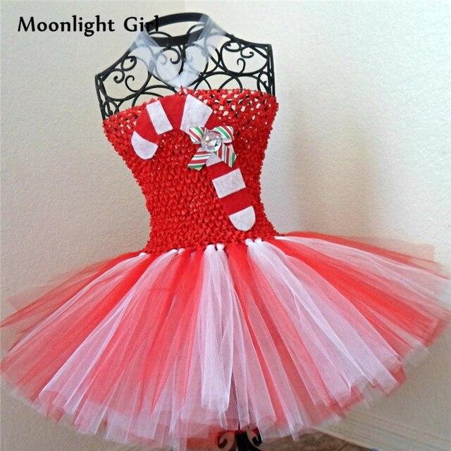 5c4fb42f5 Girl Christmas Dress Candy Pattern Kids Birthday Party Dresses Cute Mini  Princess Xmas Halloween Costume Girls Tutu Dress PQ125