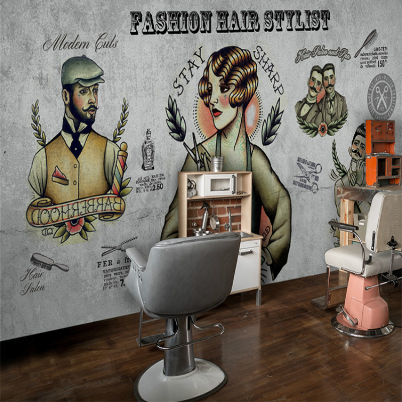Buy 3d wallpaper for wall 3d vintage Salon wallpaper