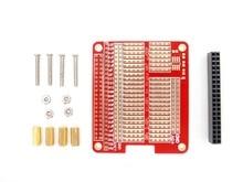 DIY Proto HAT Shield for Raspberry Pi 2 Model B / B+ / A+ ( Red)
