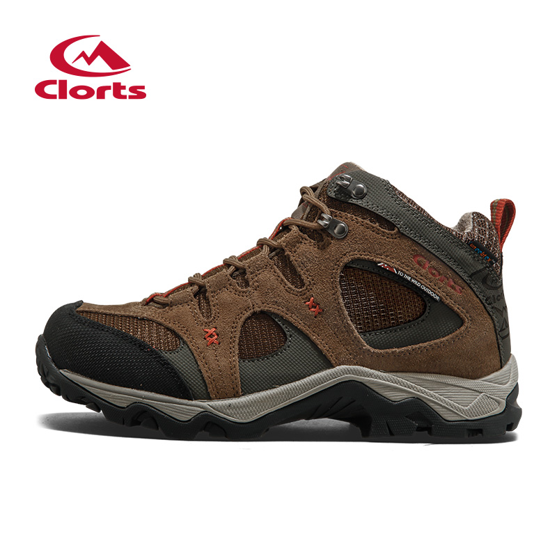 2016 Clorts Men Hiking Boots HKM-820F/G Breathable Suede Outdoor Trekking Shoes Rubber Anti-slipping Sport Sneakers clorts men trekking shoes 2016 waterproof breathable outdoor shoes non slip hiking boots sport sneakers 3d028
