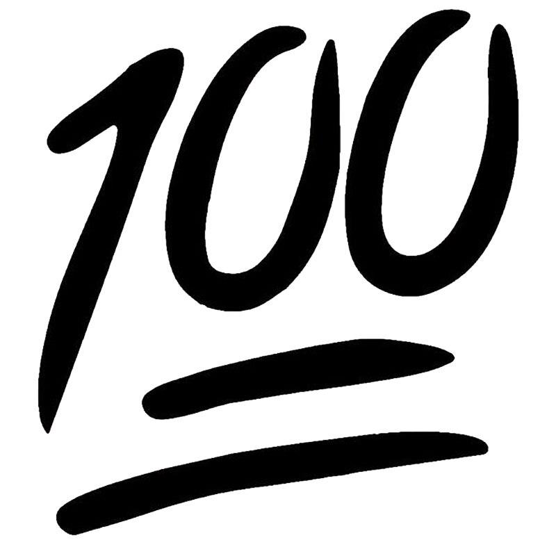 131144cm Happy Lifestyle Emoji 100 Creative Car Sticker Funny Car