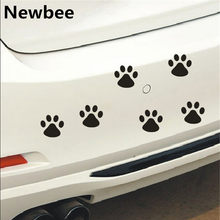 Newbee 12Pcs 3D Hond Poot Decal Auto Sticker Motorfiets Decal Emblem Kat Panda Klauw PVC Vinyl Decoratie Muur Thuis laptop Venster(China)