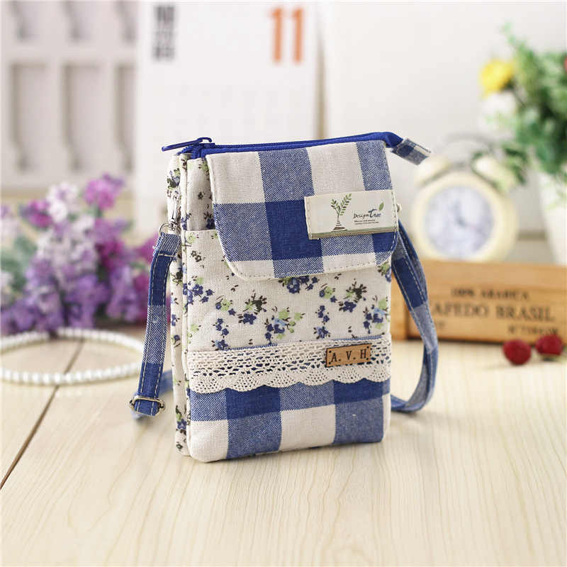 Fresh Style Clutch Women Mini Crossbody Bag Printing Cotton Female Shoulder  bags for Girls Children sac 55bc0866c5123