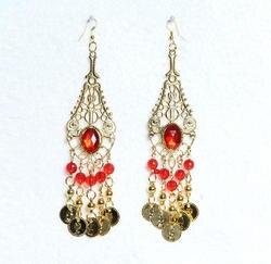 Одежда для танцев болливудское украшение для танцев серьги золотые индийские аксессуары и украшения