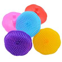 Silicone Shampoo Scalp Shower Body Washing Hair Massage Massager Brush Comb Styling Accessory Levert Dropship Y712(China)