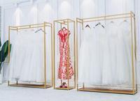 01d9e9f098304 Iron Art Wedding Dress Rack High Grade Display Rack Contracted Floor  Hangers Clothing Store Photo Studio