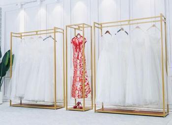 Iron art wedding dress rack high-grade display contracted floor hangers clothing store photo studio dedicated .