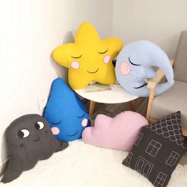 kids Pillow cute baby sleeping Appease pillow Soft Newborn Infant Cotton linen toy Toddler Room Bedding Decoration gift