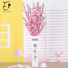 Erxiaobao 10 Pieces/Lot 120 cm Pink Red Peach Blossom Cherry Artificial Flowers Fake Silk Flower Home Decor