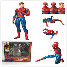 DC Justice League The Amazing MAFEX 075 Spider-Man PVC Joint Movable Collection Model Toy Gifts 16CM(China)