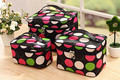 3pcs/Set Cosmetic Bag Layer Dot Pattern Travel Carry Case Toiletry Bag Organizer Clear Travel bag HBG15