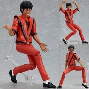 Image 1 - MJ Thriller Figma 096 Thriller Clothes Version Jackson  PVC Action Figure Toy Brinquedos