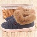 2016 mujeres calientes del algodón de costura proceso duradero antideslizante zapatos para el invierno unisex cargador de la nieve al aire libre de interior y