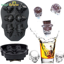 Wind flower Cocktail Whiskey 3D Skull Silicone Ice Cube Tray Pudding Molds Maker Kitchen Bar Home  Cram Mould DIY Tools