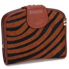 ENGYEE Small Women s Wallet Genuine Leather Mini Ladies Coin Purse Female Cutch Bag Leopard Zebra
