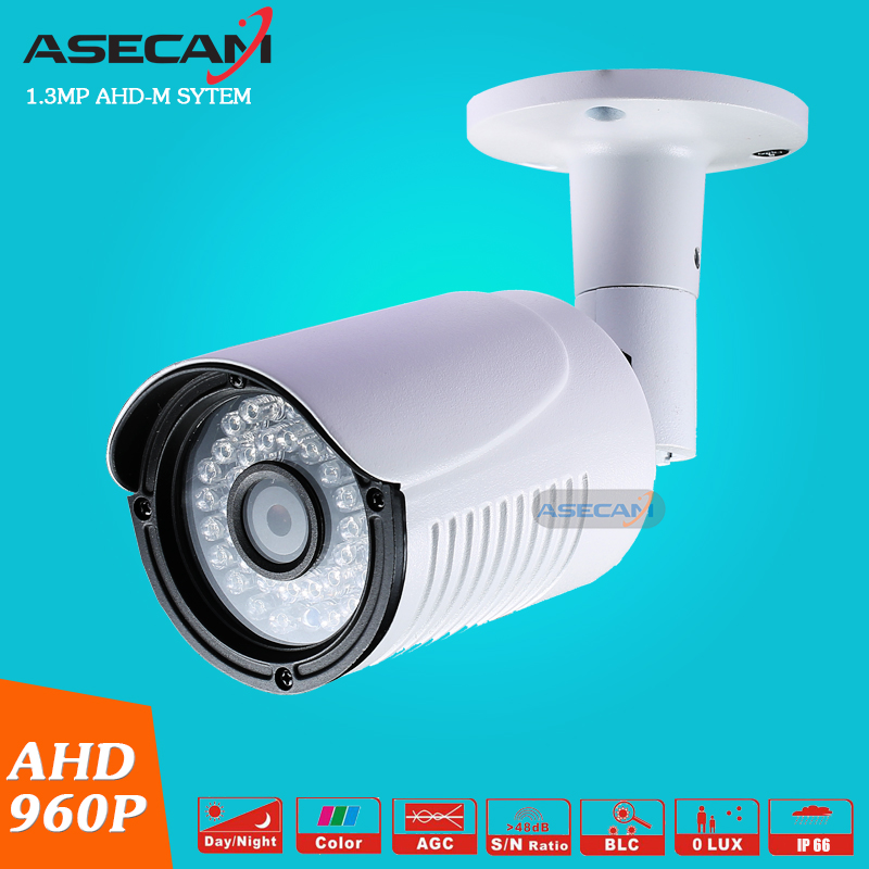 New CCTV AHD 960P Waterproof Outdoor Metal Bullet Security Camera 36PCS LED Infrared Night Vision Surveillance Camera wistino cctv camera metal housing outdoor use waterproof bullet casing for ip camera hot sale white color cover case