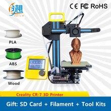 Новые мини версия Desktop уровень creality CR-7 3D-принтеры Дешевые DIY 3 D принтер Наборы подарок: нить SD Card Инструменты Бесплатная доставка