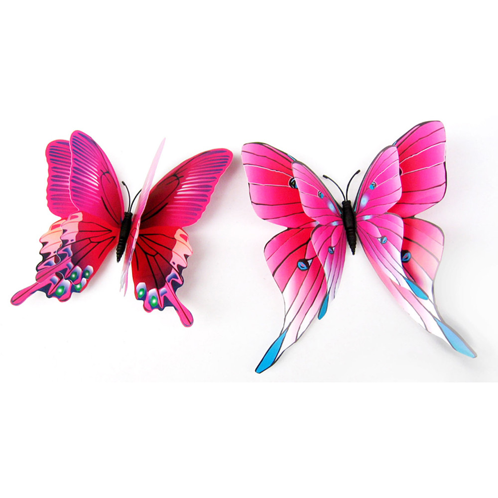 Charming Decorative Butterfly Shaped Multicolor Wall