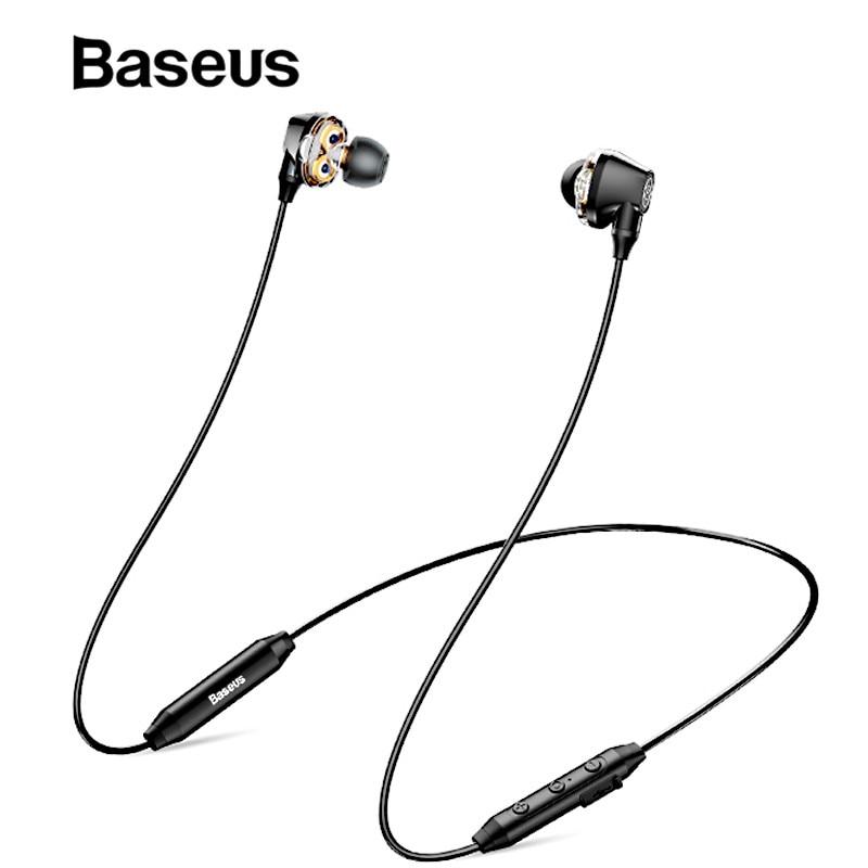 Baseus S10 Neckband Wireless Bluetooth Earphone Waterproof Headphone Sport Running Earphone Stereo Earbuds auriculares with Mic|Bluetooth Earphones & Headphones| |  - title=