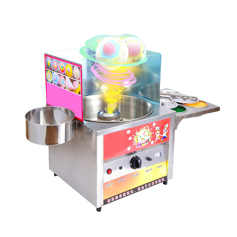 Commercial fancy gas cotton candy maker DIY sweet Candy sugar floss machine stainless steel snack equipments stalls flowerCommercial fancy gas cotton candy maker DIY sweet Candy sugar floss machine stainless steel snack equipments stalls flower