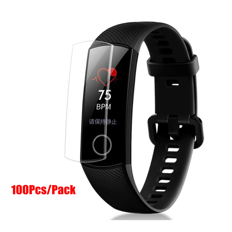 Amazfeel 100Pcs/Pack For Huawei Honor Band 4 Film Soft HD For Honor Band 5 Screen Protectors Film Not Tempered Glass