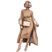 2530429823d Nouveau Femmes Élégantes Robe Vin Rouge À Manches Longues Sexy Slim Skinny  Parti Cocktail Clubwear Robe