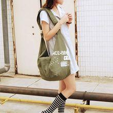 лучшая цена unisex canvas Messenger Bags Casual zipper Hobos bag Women large capacity Versatile Shoulder bags