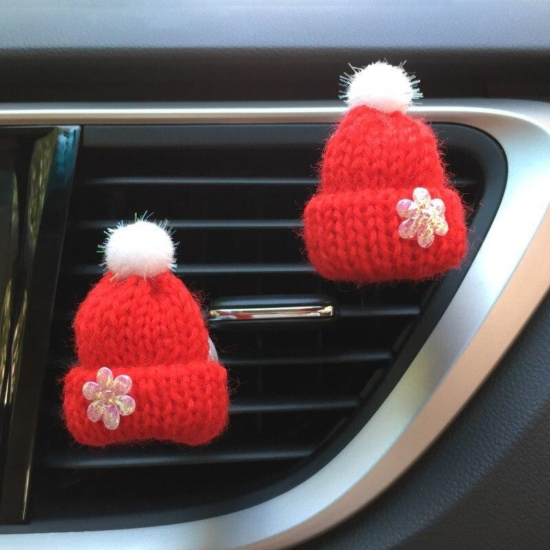 Auto Accessory Car Air Freshener Cute Hat Vents Clip Christmas Car Decor Ornament Car Diffuser Perfume Smell In The Car Scents