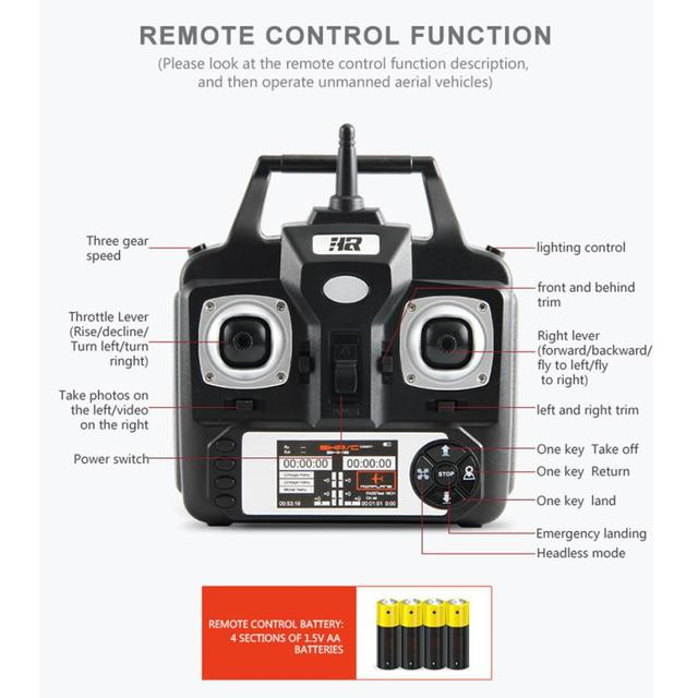 HIINST RC helicopter brushed motor 2.4G HD Camera uadcopter RC Drone 2MP WiFi FPV Live Helicopter Hover toys for children Y1124 1