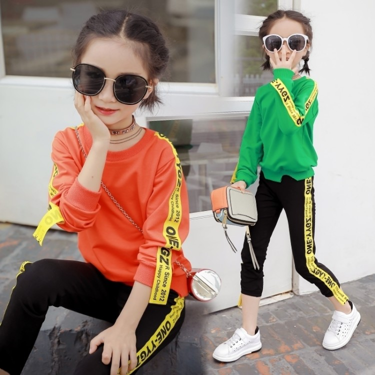 Girl Tracksuits Costume Autumn Baby Girl Clothing Sets Kids Sports Suit 6 Years Girls Clothes Suit Clothing Toddler Onesie Kid