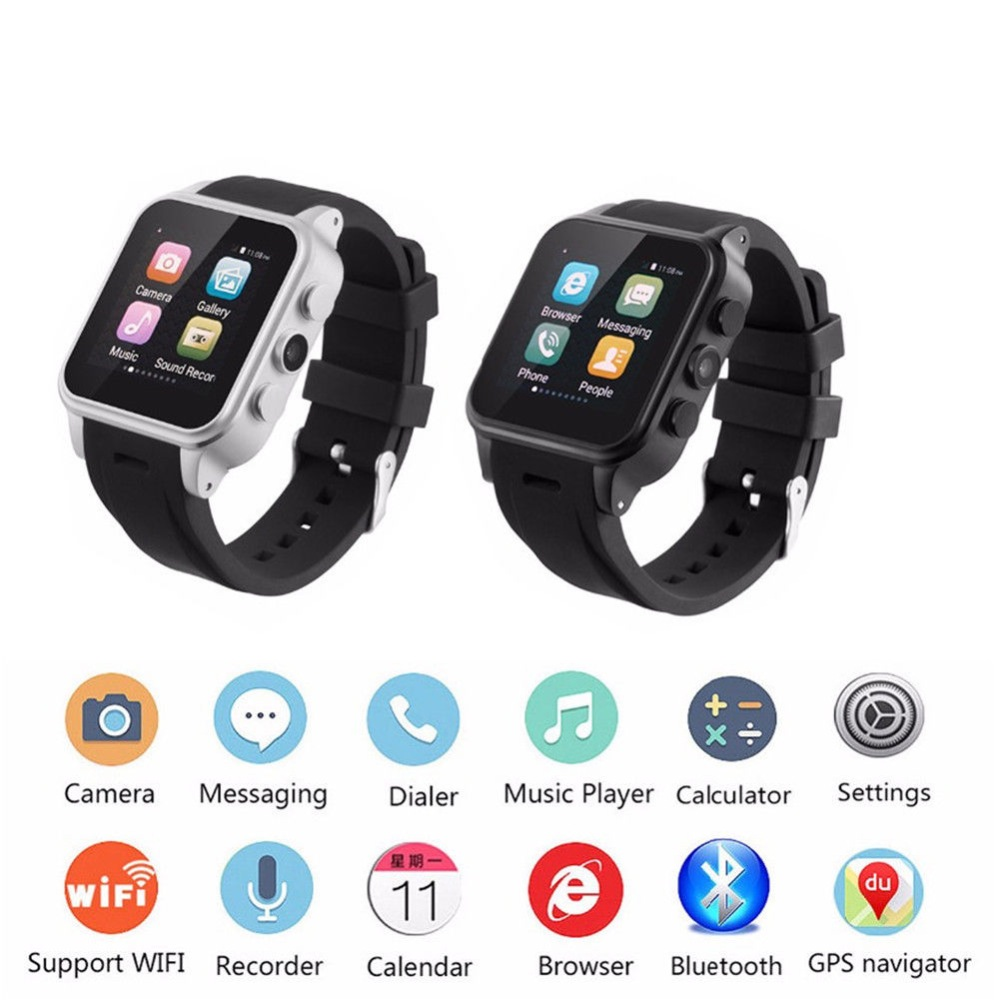 Smart Wrist Watch Wifi Gps Bluetooth Smart Watch for Android Samsung S9 S8 S7 Motorola Lenovo Lg Htc Zte Alcatel for Men Women health monitoring bluetooth sync children s adults smart watch phone for iphone samsung huawei lg htc xiaomi so on smartphone
