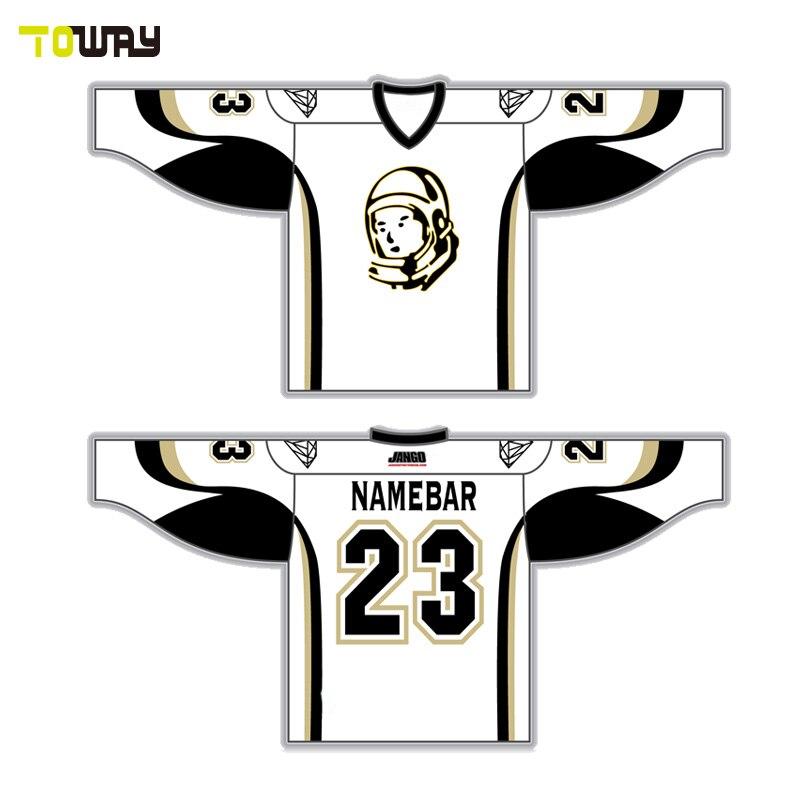 Barato sublimada hockey jersey costura patrón en Camisetas de Hockey ...