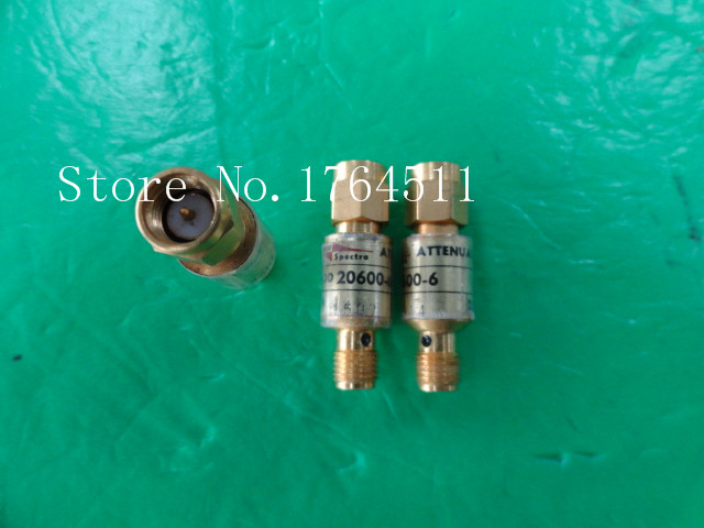 [BELLA] M/A-COM 20600-6 DC-12.4GHz 6dB 2W RF Coaxial Fixed Attenuator SMA  --3PCS/LOT
