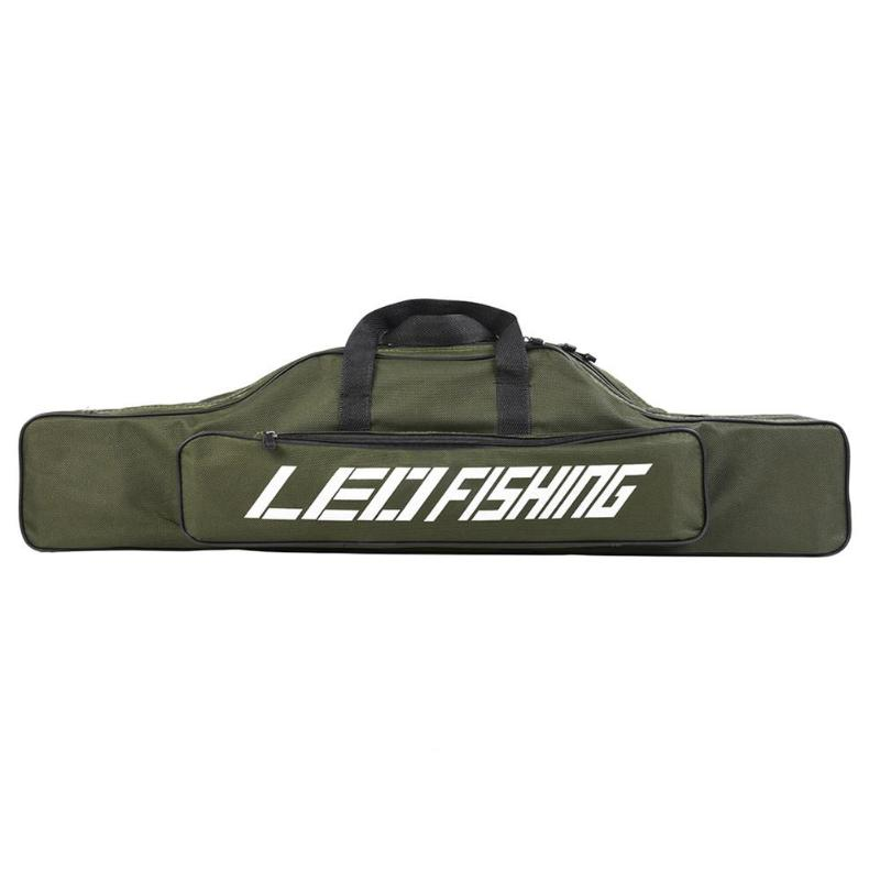 Leo Portable Fishing Bags Folding Fishing Rod Carrier Canvas Fishing Pole Tools Storage Bag Case Fishing Gear Tackle 100cm Security & Protection