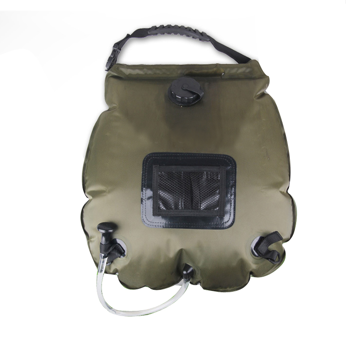 Portable Shower Bag : Outdoor l solar self heating camping shower bag pvc